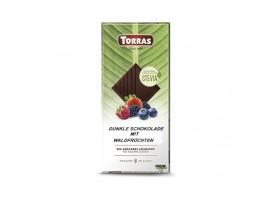 Torras Stevia Dunkle Schokolade Waldfrucht 125g